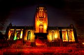 Anglican Cathedral - Liverpool at night.