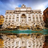 The Famous Trevi Fountain, Rome, Italy