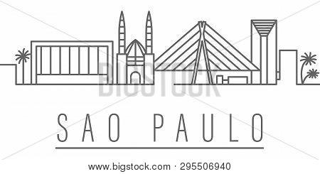 Sao Paulo City Outline Icon