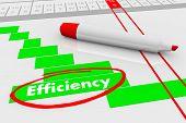 Efficiency Improve Effectiveness Plan Gantt Chart 3d Illustration poster