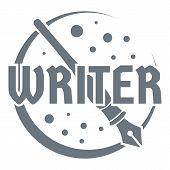 Writer Logo. Vintage Illustration Of Writer Logo For Web poster