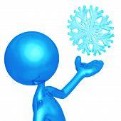 Weather Presenter Snowflake poster