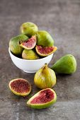Fresh Figs On Rustic Metal Surface