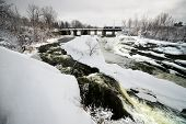 Hog's Back Fall In Ottawa, Canada In Winter