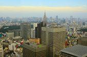Dense Skyscrapers in Shinjuku Ward, Tokyo, Japan.