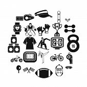 Strong Man Icons Set. Simple Set Of 25 Strong Man Icons For Web Isolated On White Background poster