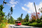 Touristic tram in Stanley park Vancouver, Canada