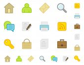 Icons Web Site. Do is not use gradient. Easy change color. Good looking in small size.