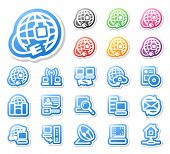 Set of network icons