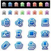 Blue icons. Set 9.
