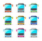 An illustrasion bus icon for your design, website, application, presentation, or ...  Good looking i