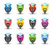 An illustrasion motorbike icon for your design, website, application, presentation, or ...  Good loo
