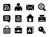 Set a black web site icons