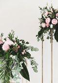 Original Wedding Decorations. Wedding Banquete. Hand Made Wedding Decorations. Wedding Bouquete. Flo poster