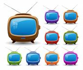 Retro tv set.