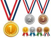 picture of gold medal  - Medals - JPG