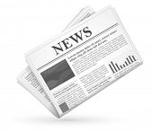 image of grayscale  - Vector newspaper icon - JPG