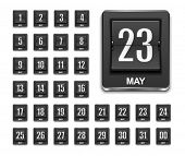 stock photo of count down  - Calendar countdown icon - JPG