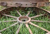 Antique Metal Tractor Tires Iii