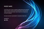 Sound Wave Vector . Vector Music Voice Vibration, Song Waveform Digital Spectrum, Audio Pulse And Wa poster