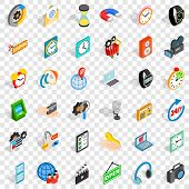 Old Device Icons Set. Isometric Style Of 36 Old Device Vector Icons For Web For Any Design poster