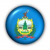 picture of burlington  - USA States Flag Button Series  - JPG
