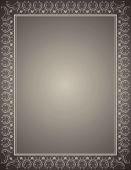 Grey Certificate Background, Vector