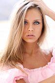 Closeup Portrait einer schönen jungen Frau