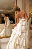 wedding shot of bride