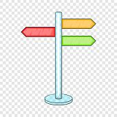 Direction Signs Icon. Cartoon Illustration Of Direction Signs Vector Icon For Web poster