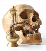 Hookah And Human Skull.