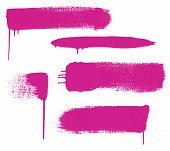 Pink Brush Strokes