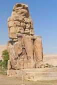 Right Statue Of The Two Colossi Of Memnon ( Luxor, Egypt )