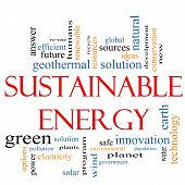 Sustainable Energy Word Cloud Concept