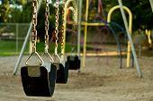 Empty Childs Swing Set