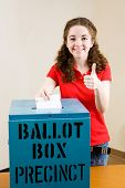 Election - Young Voter Thumbsup