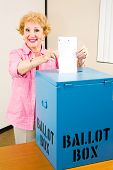 Election - Senior Woman Votes