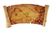foto of treasure map  - old treasure map - JPG