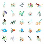 Medical Clinic Icons Set. Isometric Set Of 25 Medical Clinic Vector Icons For Web Isolated On White  poster