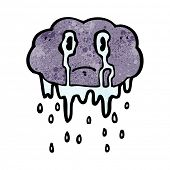 cartoon crying raincloud