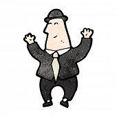 banquero feliz de dibujos animados