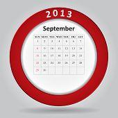 Moderno calendário mensal