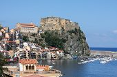 Scilla, Castle on the rock in Calabria, Italy