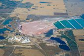 foto of potash  - High altitude image of a potash mine in Southern Saskatchewan - JPG