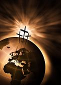 image of christian cross  - The creation is saved by the Lord Jesus Christ - JPG