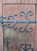 picture of poitiers  - Close up of a church door in Poitier France - JPG