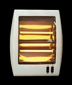 Electric Heater Black Isolated