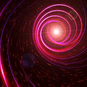 Star With Pink And Violet Spirals