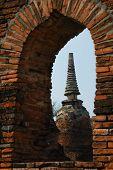The Stupa Buddha And Sky