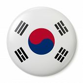 South Korea Pin-back